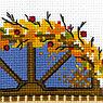"""Набор для вышивания крестом """"Осеннее окошко"""", фото 4"""