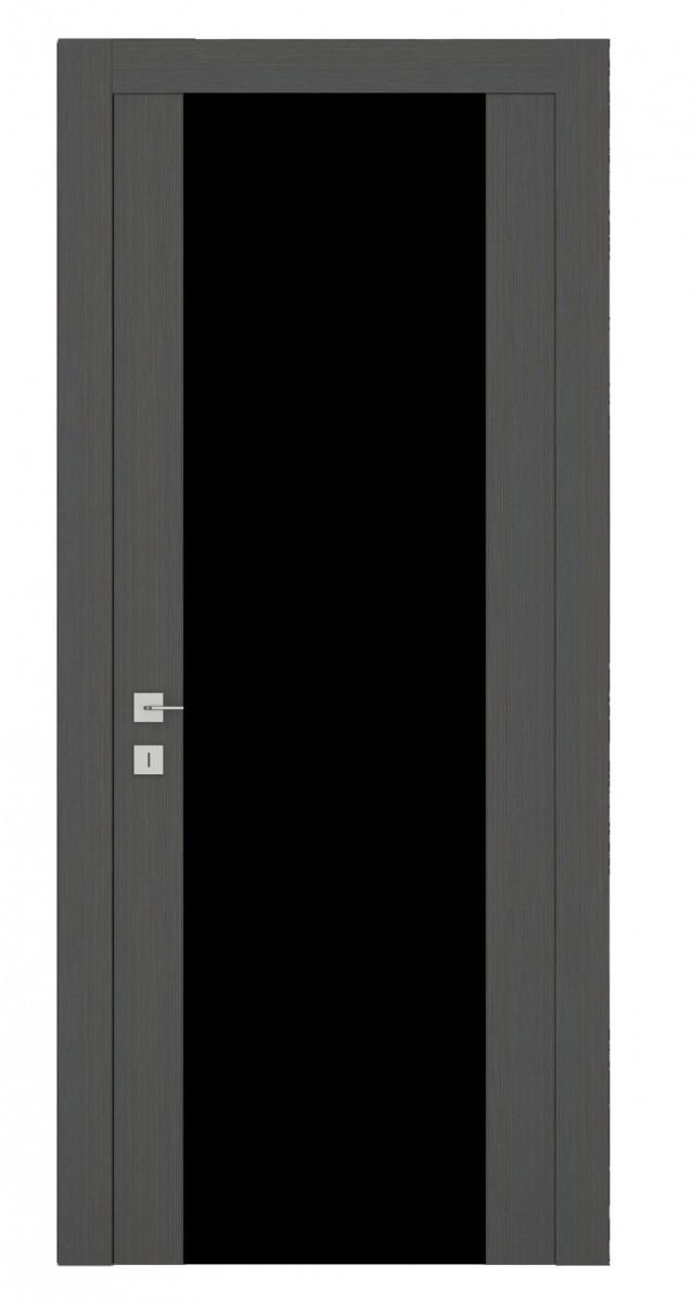 Дверь Африканский орех черный триплекс