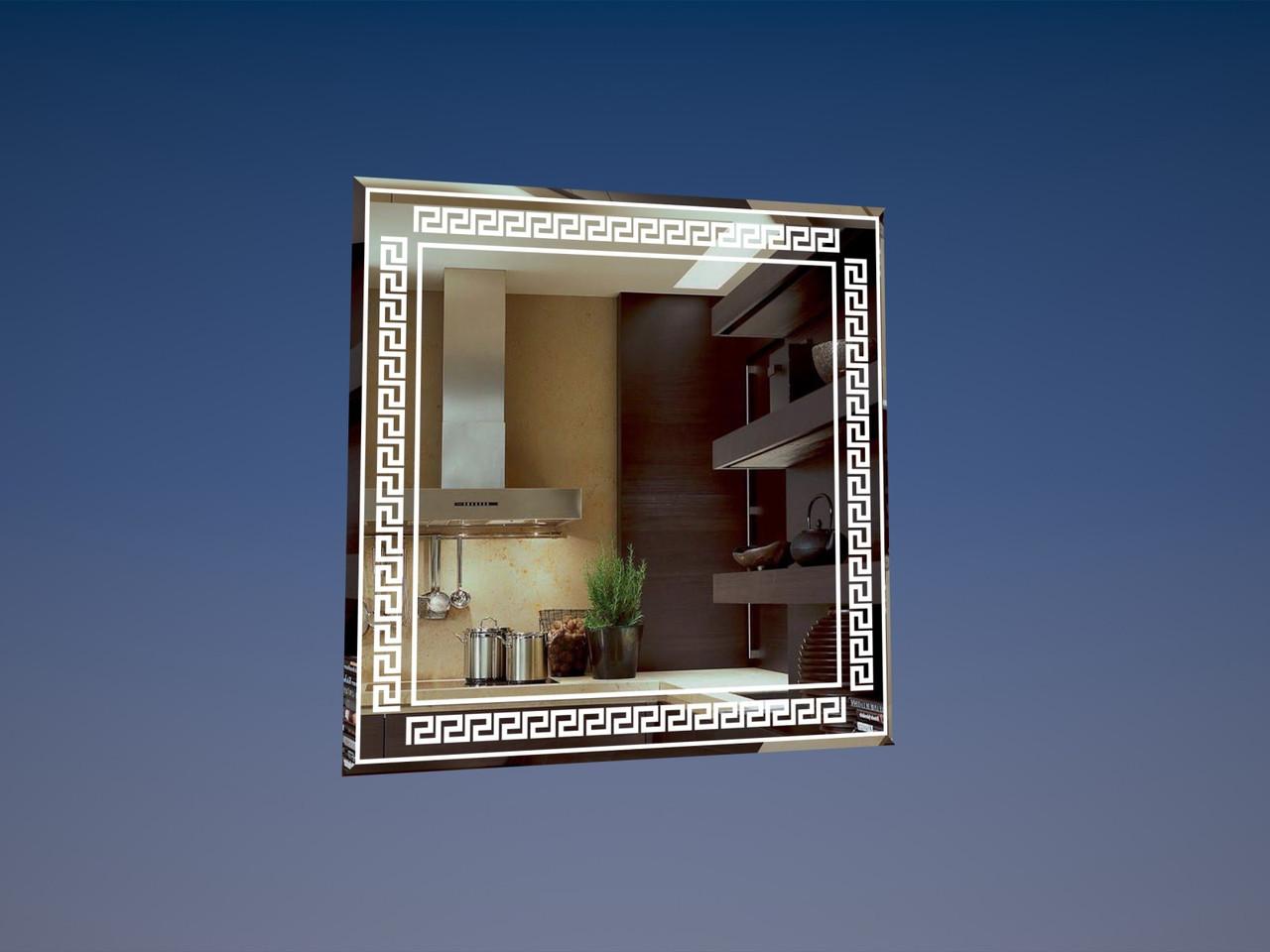 Зеркало с фацетом 50*50см. Версаче