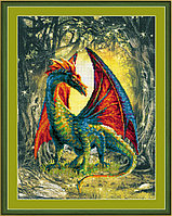 """Набор для вышивания крестом """"Лесной дракон"""""""