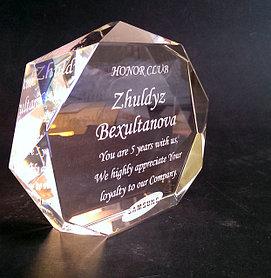 Награды из стекла