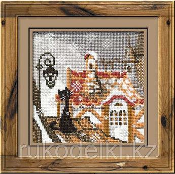"""Набор для вышивания крестом """"Город и кошки. Зима"""""""