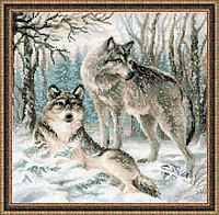 """Набор для вышивания крестом """"Волчья пара"""", фото 1"""