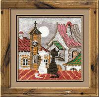 """Набор для вышивания крестом """"Город и кошки. Весна"""""""