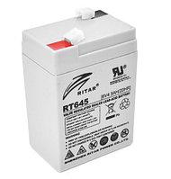 "Аккумуляторная  батарея   ""6V 4.5 Ah  RT 645(70x47x107-0.72)"""