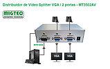 Разветвитель VGA на 2 выхода видео и аудио MT-350AV  350MHz, фото 2