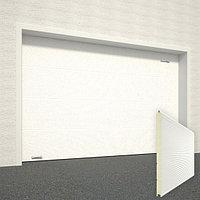 Ворота секционные RSD02, дизайн панели: волна, цвет: белый.