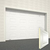 Ворота секционные RSD02, дизайн панели: филенка, цвет: белый., фото 1