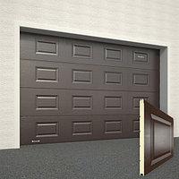 Ворота секционные RSD02, дизайн панели: волна, цвет: коричневый., фото 1