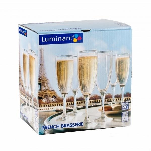 Набор Luminarc French Brasserie из 6 бокалов для шампанского 170 мл (H9452/6)