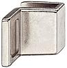 Ручка для стеклянных дверей, цинковое литье,28х20 мм, никель, полированная