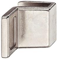 Ручка для стеклянных дверей, цинковое литье,28х20 мм, никель, полированная, фото 1
