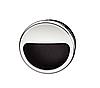 Ручка мебельная, хром/черная, 55 мм, пластмасса