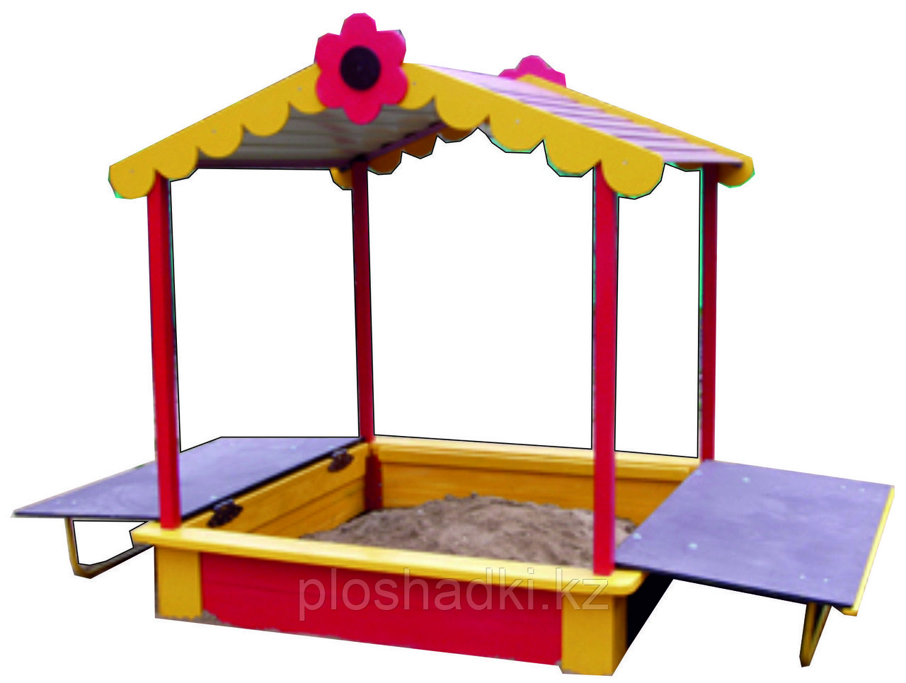 Песочница детская с крышей, раскладывающаяся