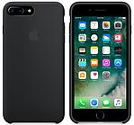 Cиликоновый чехол для iPhone 8 Plus (черный)