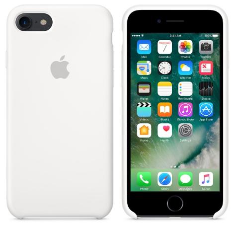 Cиликоновый чехол для iPhone 8 (белый)
