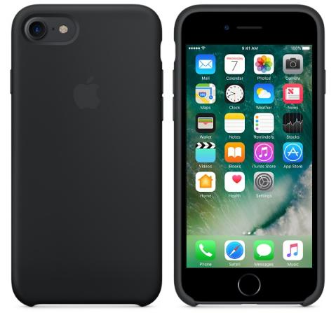 Cиликоновый чехол для iPhone 8 (черный)