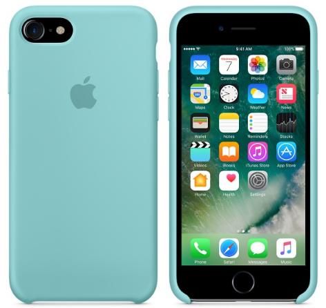 Cиликоновый чехол для iPhone 8 (синее море)
