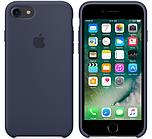 Cиликоновый чехол для iPhone 7 (тёмно-синий)