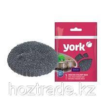 Губка металлическая для посуды York Maxi