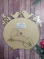 Заготока деревянная часы с птичками деревянная для декора, росписи и декупажа