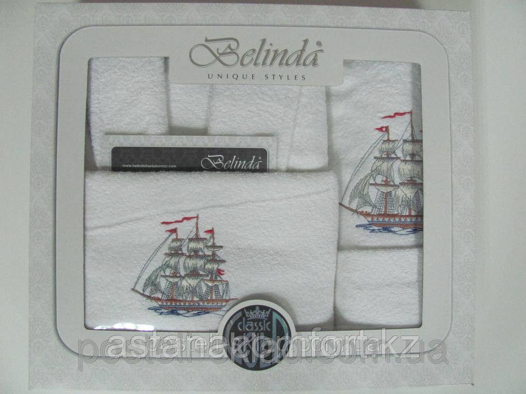 Махровый мужской халат +4 полотенца в коробке.Турция.