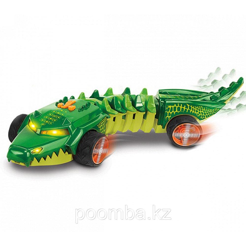 """Машинка """"Хот Вилс"""" - Аллигатор, зеленая (свет, звук), 32 см"""