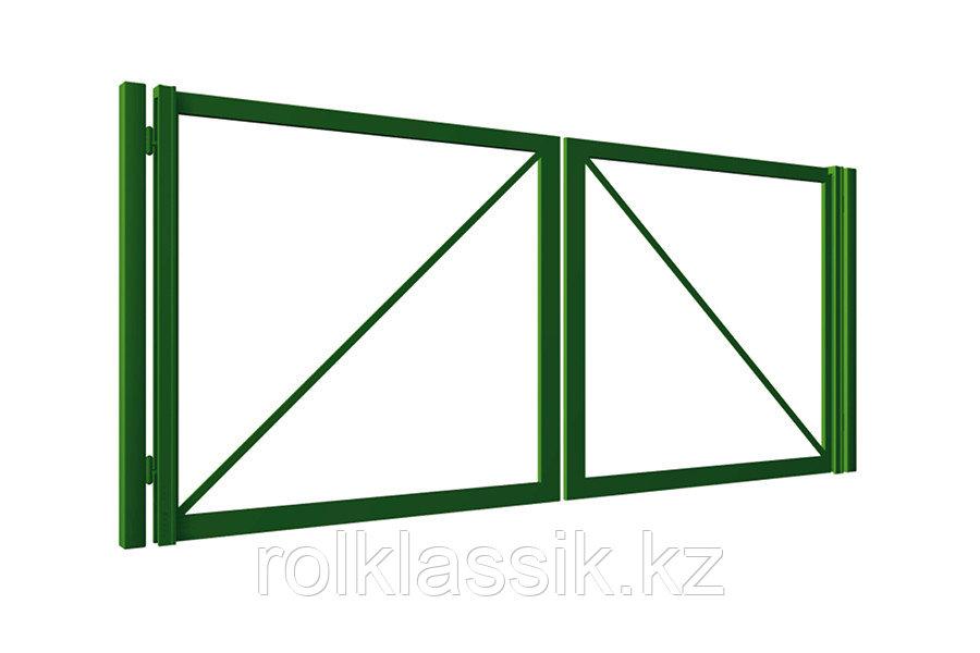 Распашные ворота 5000х2500 металлические