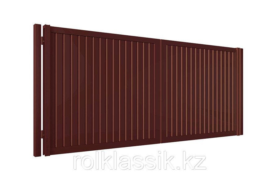 Распашные ворота 4100х2500 металлические