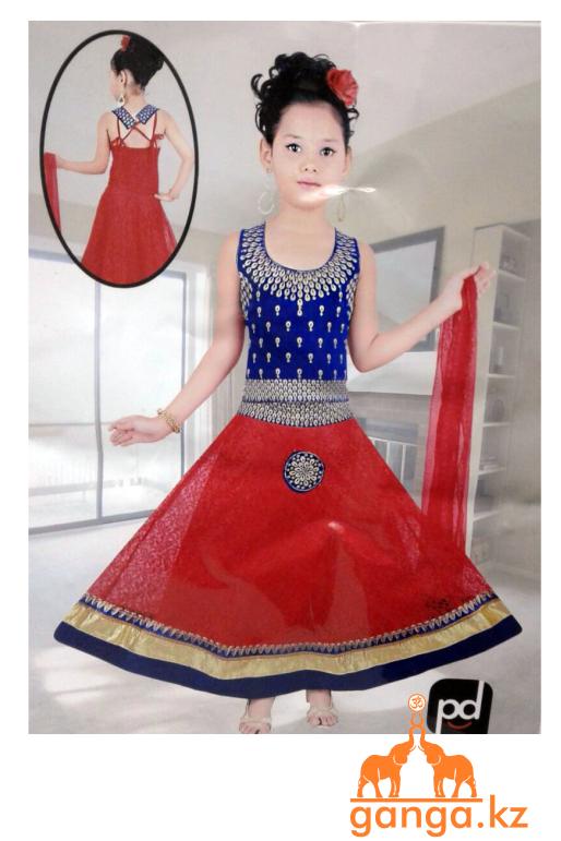 Индийский костюм для девочки (3-4 года) размер 18-20 - фото 2
