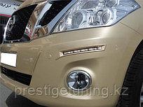 Дневные ходовые огни на Nissan Patrol Y62 2010-19