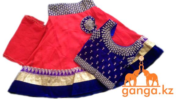 Индийский костюм для девочки (3-4 года) размер 18-20 - фото 3