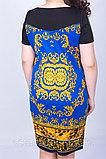 Яркое платье полуприлегающего силуэта. 52 размер, фото 4