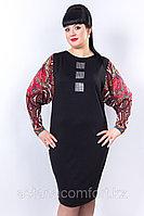Платье полуприлегающего силуэта с широкими втачными рукавами. Размер: 54