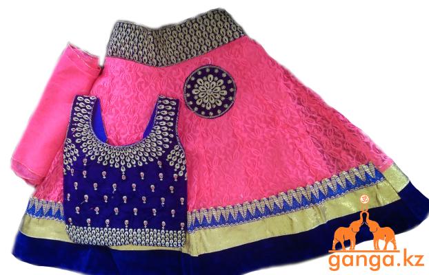 Индийский костюм для девочки (3-4 года) размер 18-20 - фото 1
