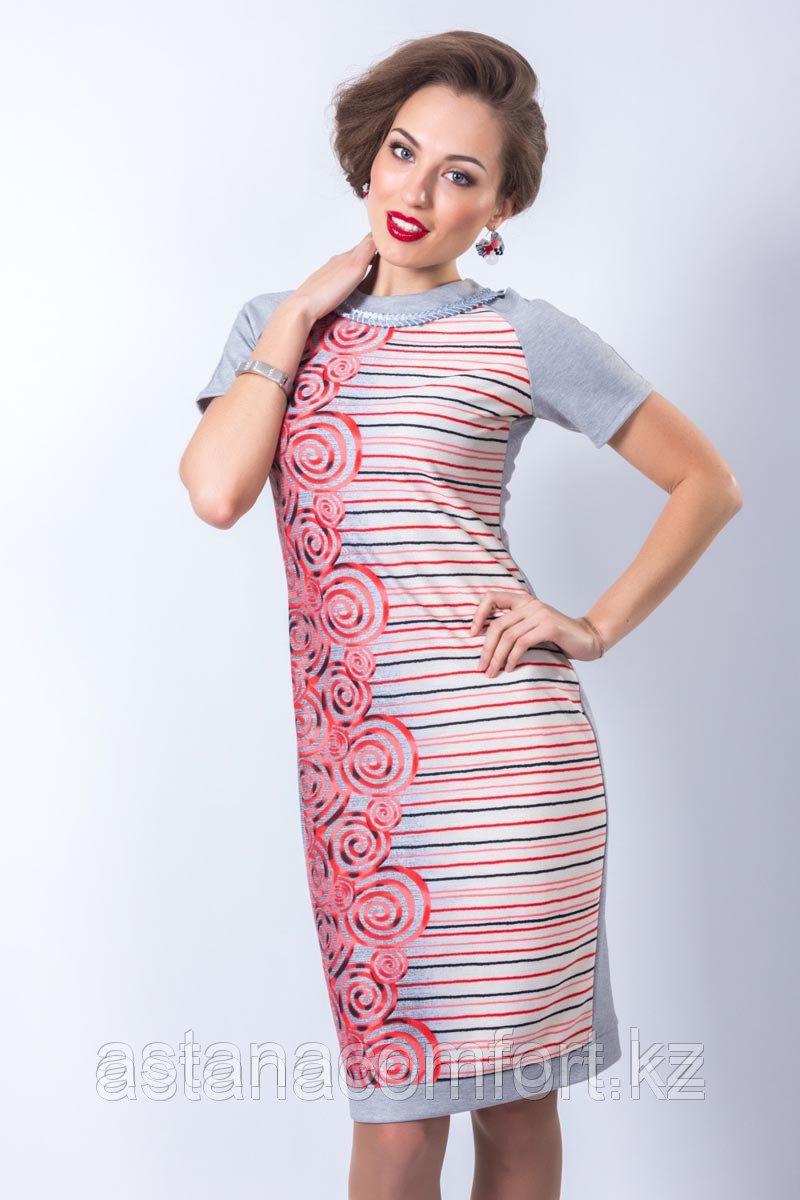 Весеннее платье полуприлегающего силуэта. Размер: 42