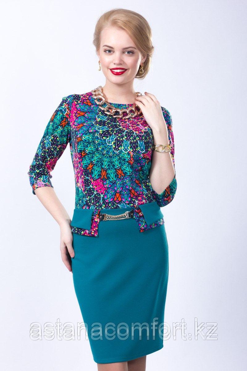 Элегантное платье приталенного силуэта. Размеры: 44, 46, 54, 56