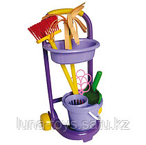 "Игровой набор ""Золушка"" №4 (щётка, совок, выбивалка, ведро, насадка на ведро, швабра, тележка,салфет"