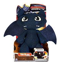Dragons 66556 Дрэгонс Большой плюшевый дракон Беззубик со звуковыми эффектами, фото 1