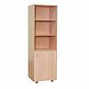 Шкаф для учебных пособий узкий с полками