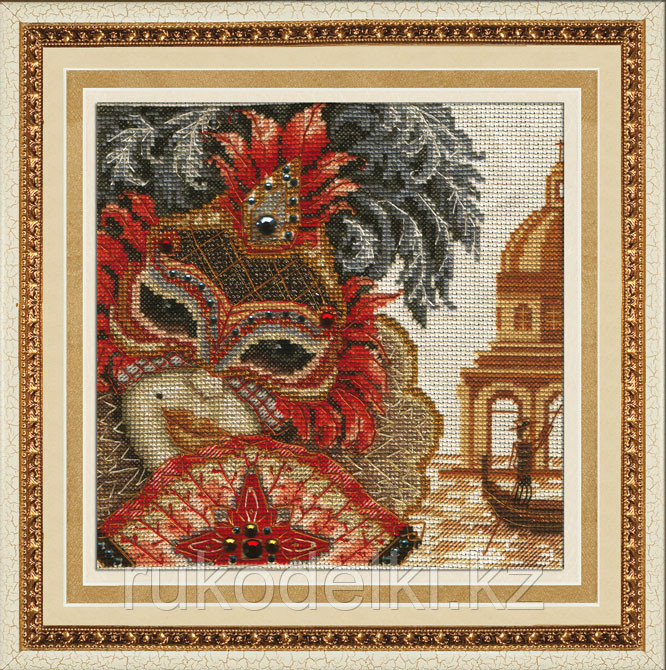 """Набор для вышивания крестом """"Венецианская маска. ОНА"""""""