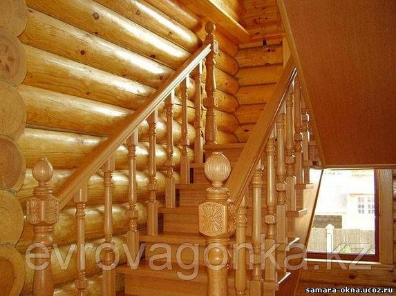 Ступени лестниц лиственница 40х300х1200 в Алматы, фото 2