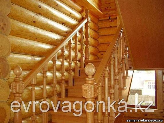 Ступени лестниц лиственница 40х300х1000 в Алматы, фото 2
