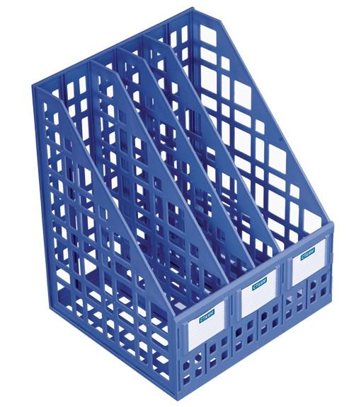 Лоток сборный вертикальный 4 отделения, синий (250мм)