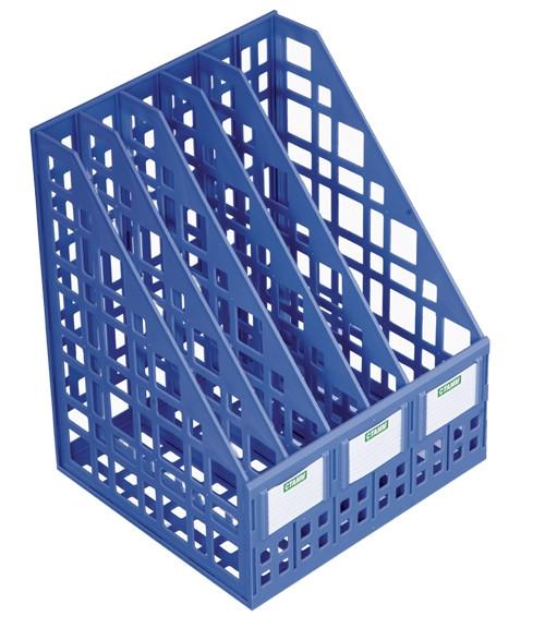 Лоток сборный вертикальный 5 отделений, синий (250мм)