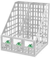Лоток сборный вертикальный 2 отделения серый