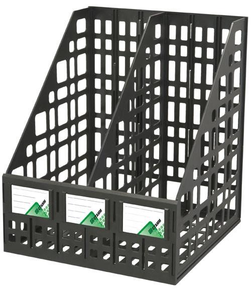 Лоток сборный вертикальный 2 отделения черный