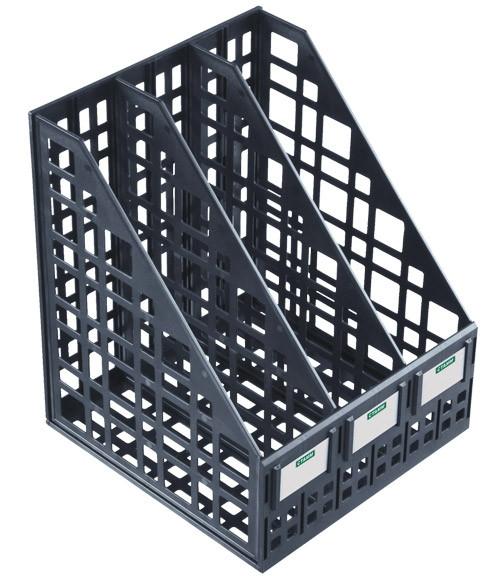 Лоток вертикальный сборный 3 отделения черный