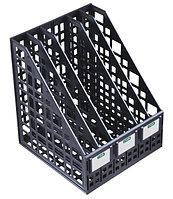 Лоток вертикальный сборный 5 отделений черный