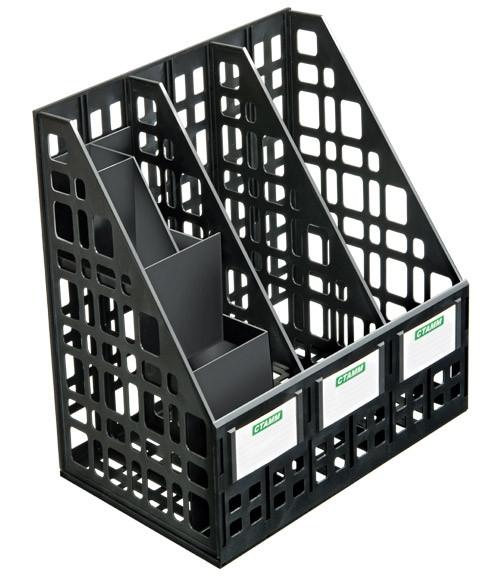 Лоток вертикальный сборный с органайзером черный